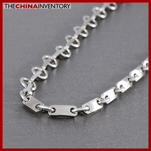 "22"""" STAINLESS STEEL TAG LINKS NECKLACE N1008"