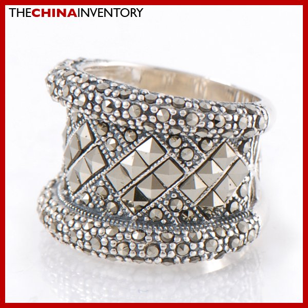 SIZE 7 MACARSITES 925 STERLING SILVER BAND RING SIL2209