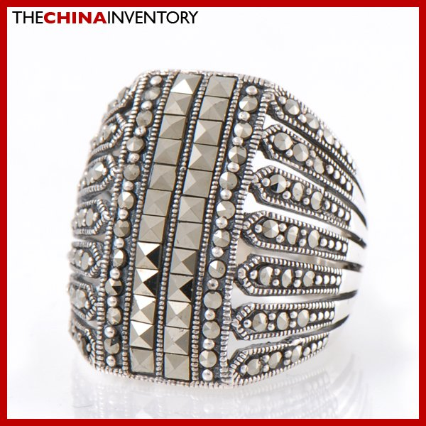 SIZE 8 MACARSITES 925 SILVER RING JEWELRY SIL2208