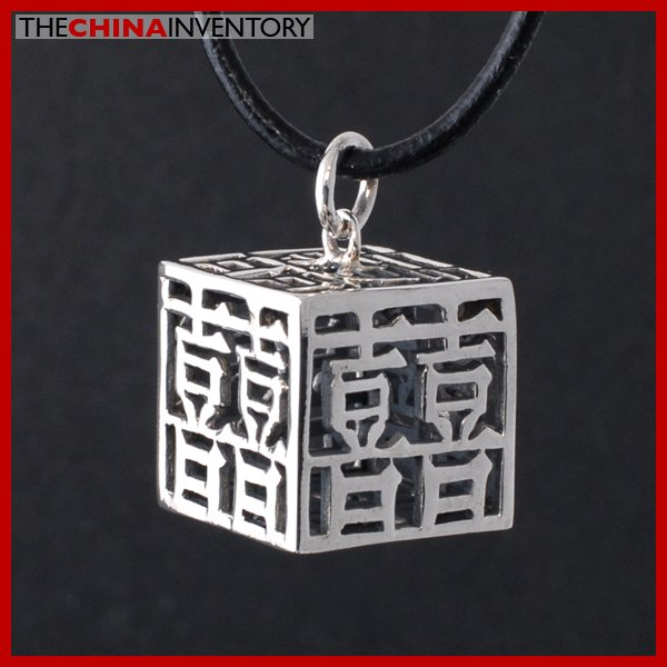 NEW 925 STERLING SILVER WEDDING CUBE NECKLACE SIL2314