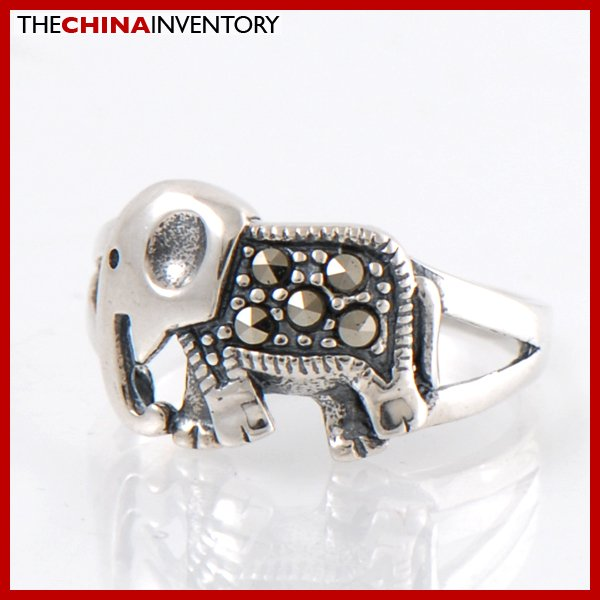 GIRLS SIZE 8 925 STERLING SILVER ELEPHANT RING SIL2207
