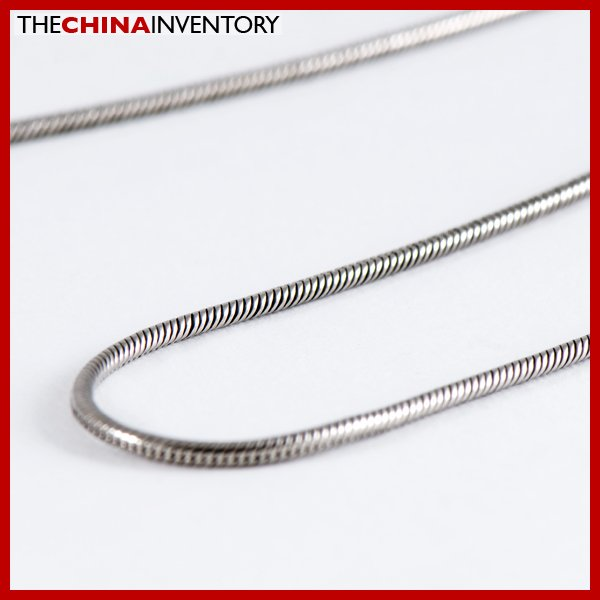"""1.2MM 18"""""""" STAINLESS STEEL SNAKE CHAIN NECKLACE N2501"""