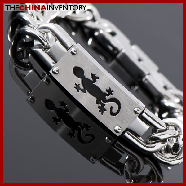 """8"""""""" STAINLESS STEEL ID CURB BRACELET B1125A"""