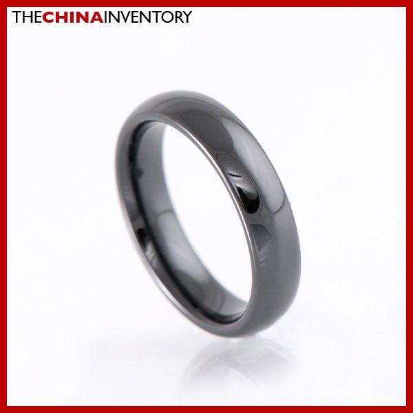 5MM SIZE 7 BLACK CERAMIC WEDDING BAND RING R1806B