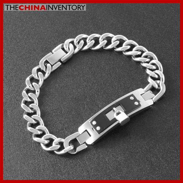 "8.5"""" 10MM STAINLESS STEEL CURB CHAIN BRACELET B2606"