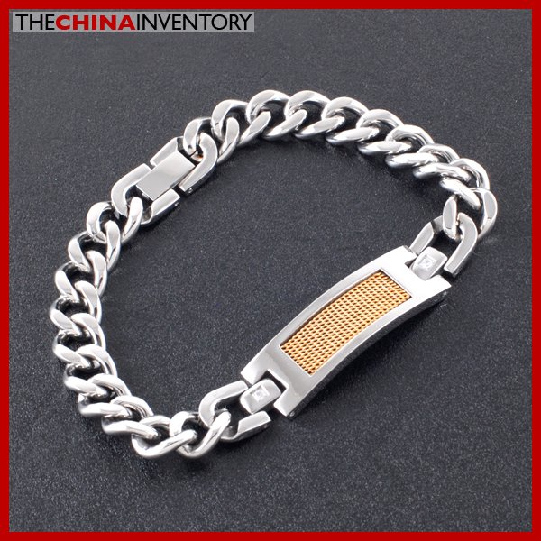 "8.5"""" 10MM STAINLESS STEEL CURB ID CHAIN BRACELET B2607"