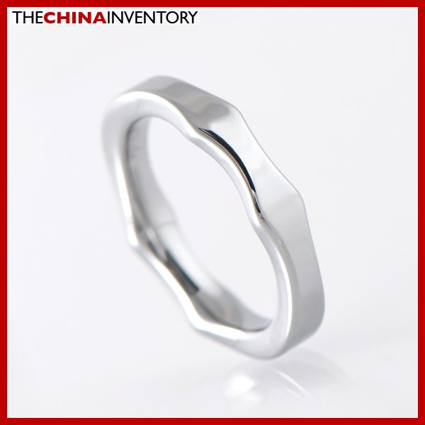 3.5MM SIZE 3 TUNGSTEN CARBIDE WAVE BAND RING R1907C