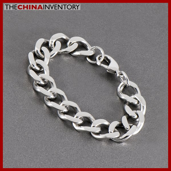 """16MM 8"""""""" STAINLESS STEEL CURB CHAIN BRACELET B1011"""