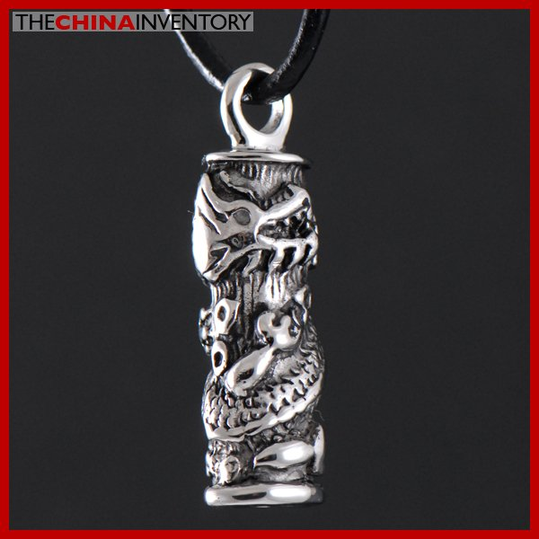STAINLESS STEEL DRARGON TUBE PENDANT NECKLACE P2704