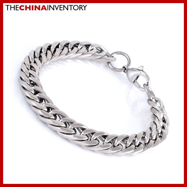 "7.5"""" STAINLESS STEEL CUBAN CURB CHAIN BRACELET B1711"
