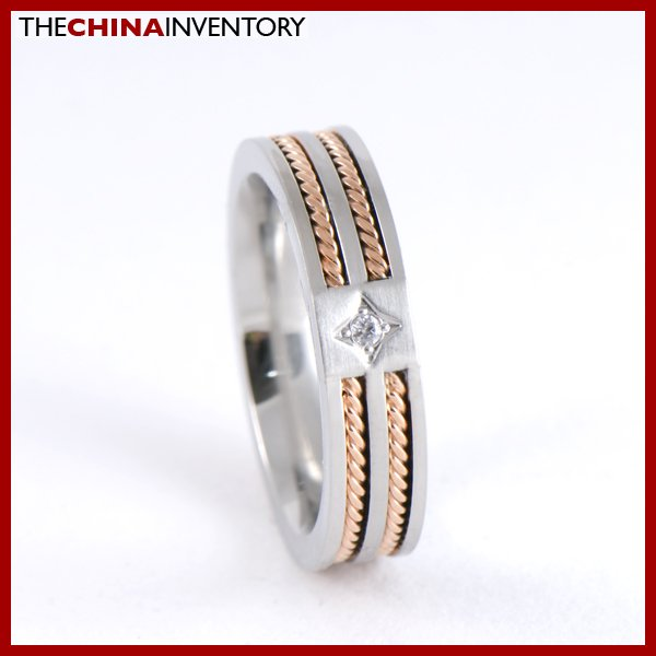 GIRLS 5MM SIZE 4 STAINLESS STEEL CABLE BAND RING R0711A