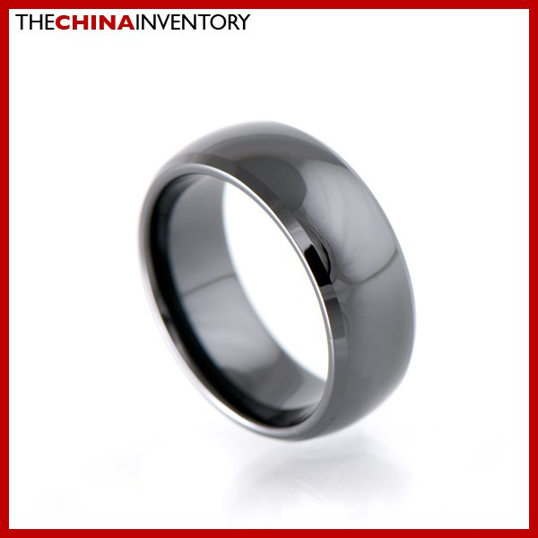 8MM SIZE 10.5 HI TECH BLACK CERAMIC WEDDING RING R1806