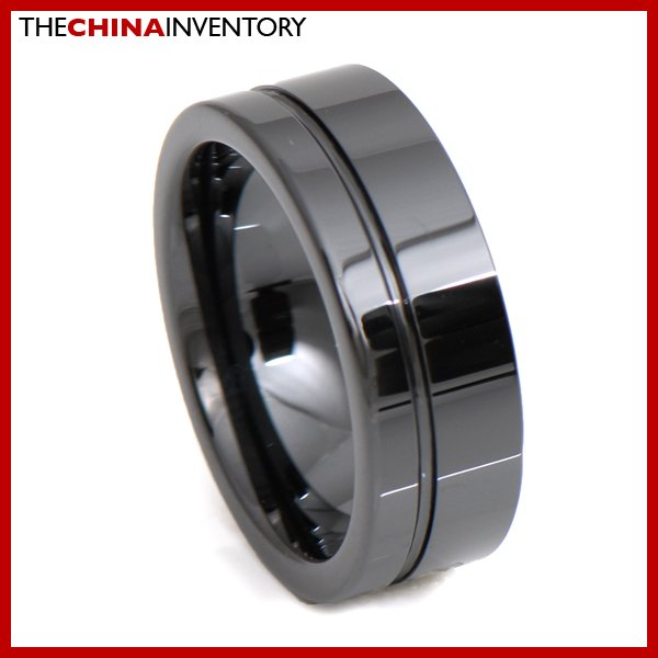8MM SIZE 12 HI TECH BLACK CERAMIC WEDDING RING R3403
