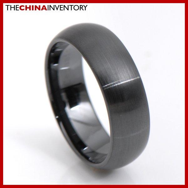 8MM SIZE 11 BLACK CERAMIC WEDDING BAND RING R3411