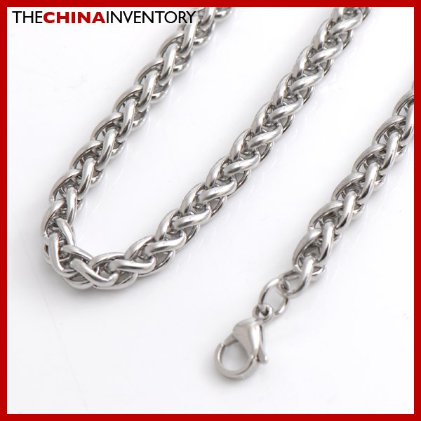 """6MM 22"""""""" STAINLESS STEEL ROUND LINK CHAIN NECKLACE N3412"""
