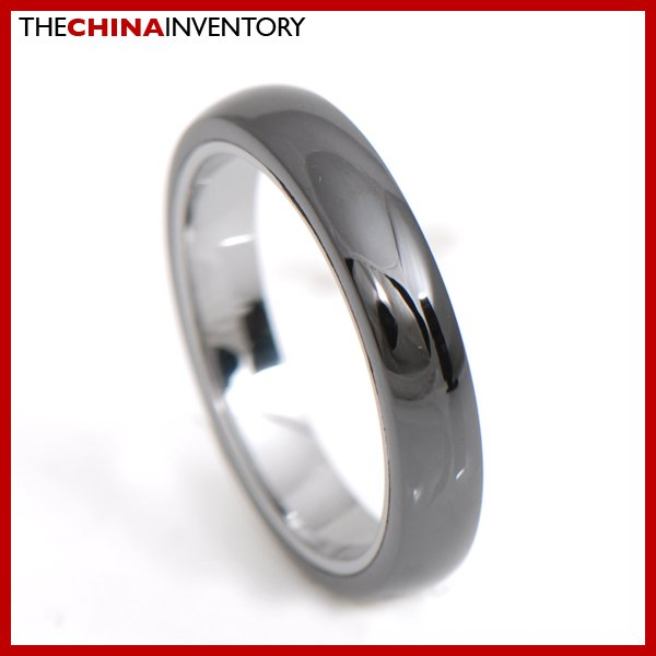 4MM SIZE 6.5 TUNGSTEN CARBIDE TWO TONE BAND RING R3406