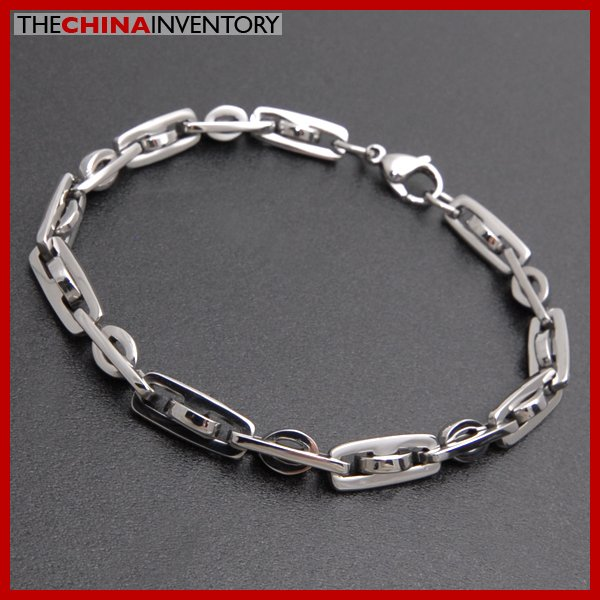 "MENS 9"""" STAINLESS STEEL DESIGNER CHAIN BRACELET B3812"