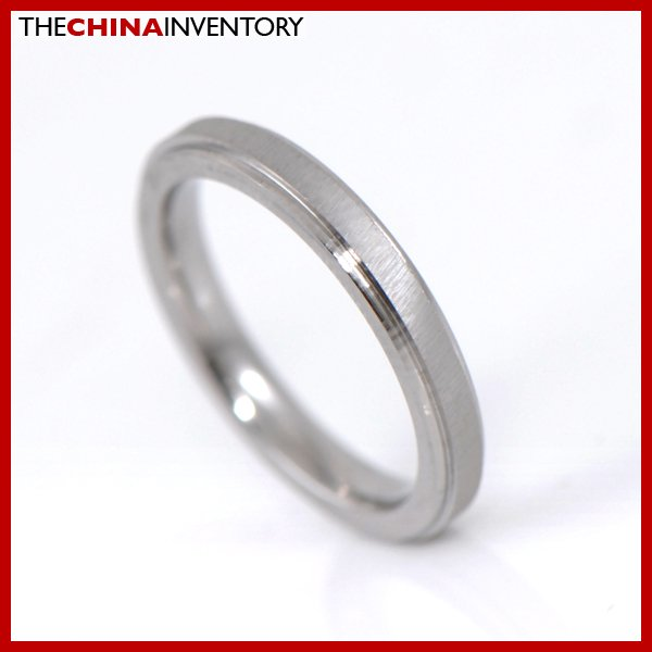 2.5MM SIZE 3.5 STAINLESS STEEL BRUSHED BAND RING R2701C