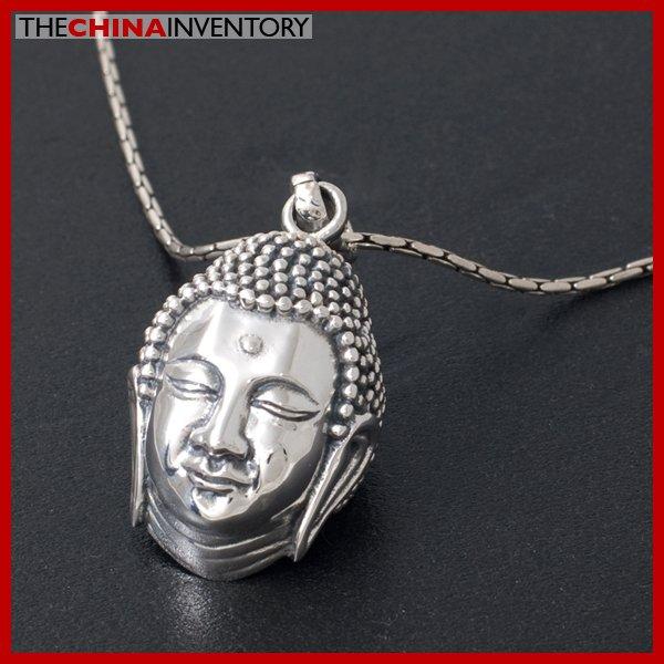 GENUINE 925 STERLING SILVER BUDDHA HEAD PENDANT SIL3904