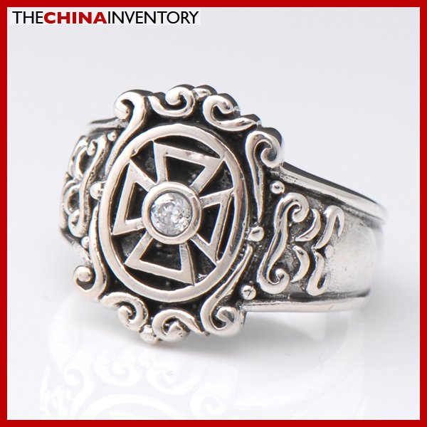 NEW GUY SIZE 7.5 925 STERLING SILVER CROSS RING SIL2305