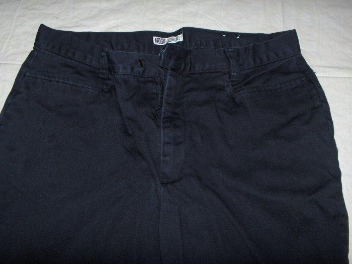 Faded Glory Stretch black pants flat front 14 petite