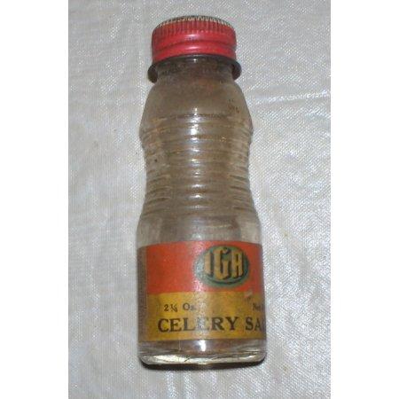 Old IGA celery salt spice bottle