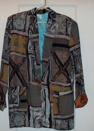 Fall Blazer w/ matching shell sz 10 brown/copper/blue