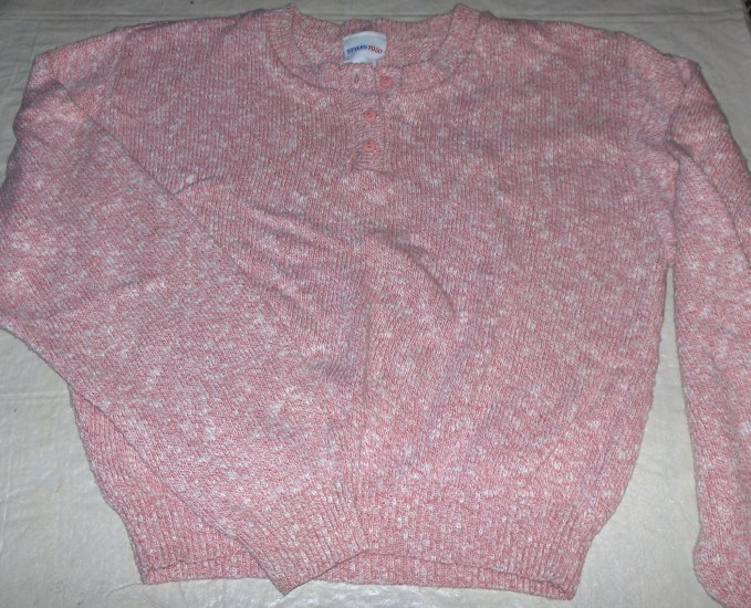 Newport News Pink/White pullover sweater-new-medium
