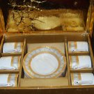 12 piece Espresso porcelain cup & saucer set NEW-free shipping