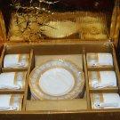 12 piece Espresso porcelain cup & saucer set NEW-free shipping