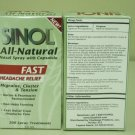 Sinol all natural Fast Headache Relief nasal spray w/ Capsacin 30ml