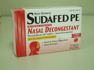 Sudafed PE Maxium Strength Nasal Decongestant - 72 tablets