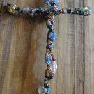 Handmade Wired Gemstone/Rock Cross