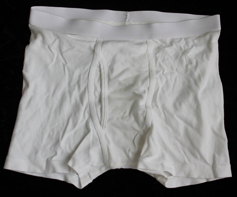Trailer Trash Men's White Underwear Boxer  Briefs Medium 32-34