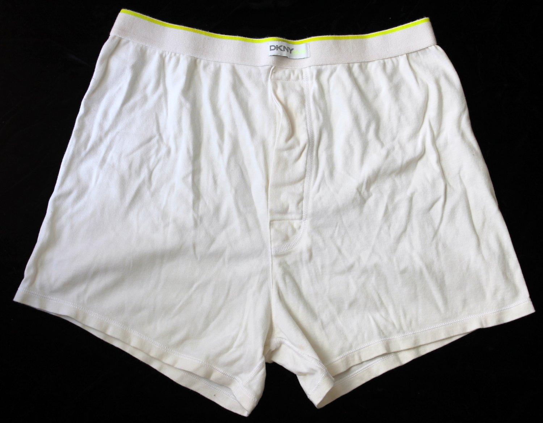 DNKY Men's 1 pr White Underwear PURE Boxers M
