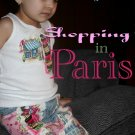 Shopping in Paris Decoupage Jean and shirt set sz 12M-8