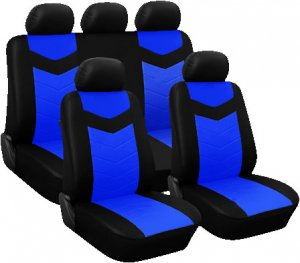 2003   2008 Mazda Mazda6 Car Seat Covers Full Set PU Synthetic Leather Blue
