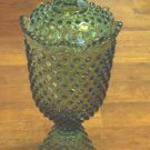 "Fenton old Apothecary Hobnail Jar with lid""ESTATE FIND"""