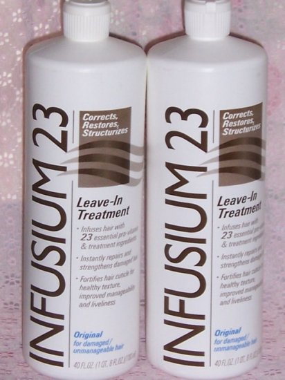 LOT oF 2 INFUSIUM 23 LEAVE IN TREAT-CONDITIONER NEW 40z