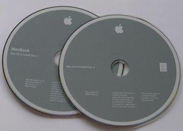 MacBook 13 OS X v. 10.5.7 (Leopard) Install Disks (O/S)