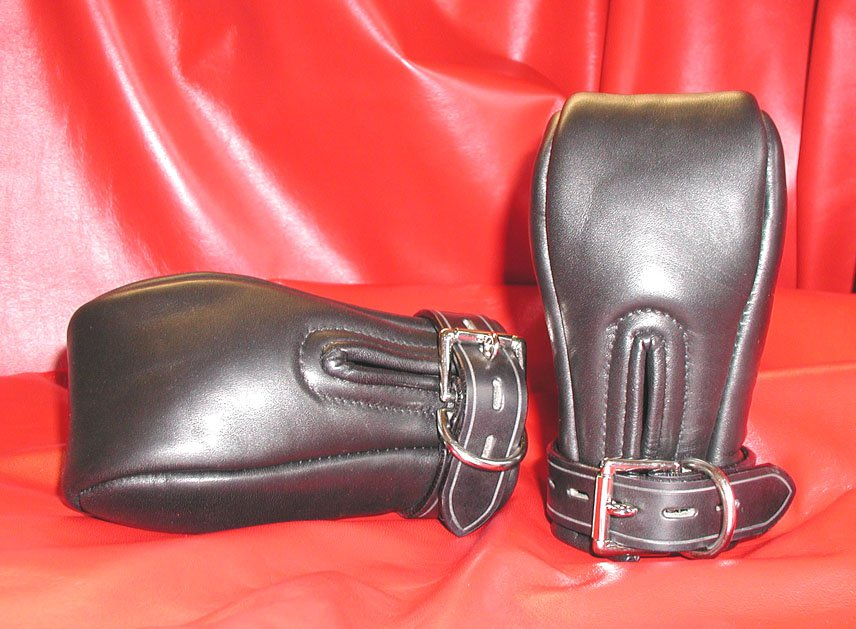 Leather Padded Fist Mitts