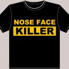"Medium Black Brad Marchand ""Nose Face Killer"" Boston Bruins T-shirt"