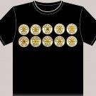 Large Black Boston Bruins Retired Numbers T-shirt