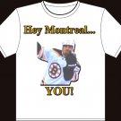"Medium - White - ""Hey Montreal"" Andrew Ference Boston Bruins T-shirt"