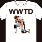 "Small - White - Tim Tebow ""WWTD - Jesus 15"" Denver Broncos T-shirt"