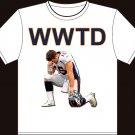 "Medium - White - Tim Tebow ""WWTD - Jesus 15"" Denver Broncos T-shirt"