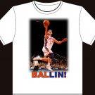 "Medium - White - ""BALLIN!"" Jeremy Lin T-shirt New York Knicks"