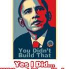 "Small - White - ""Yes I Did"" anti - Barack Obama T-shirt"