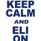 "XL - White - ""KEEP CALM AND ELI ON"" Eli Manning T-shirt New York Giants"