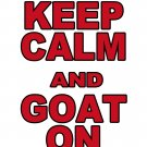 """XXL - White - """"KEEP CALM AND GOAT ON"""" WPI T-shirt Worcester Polytechnic Institute"""